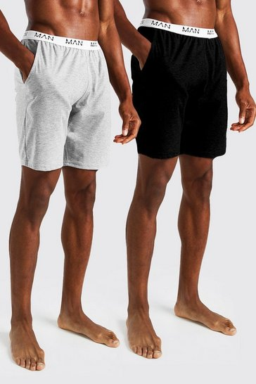 Multi MAN Dash 2Pk Jacquard Waistband Lounge Short