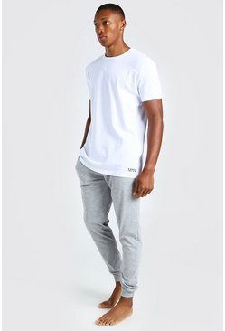 Grey MAN Dash Jacquard Waistband Lounge Set