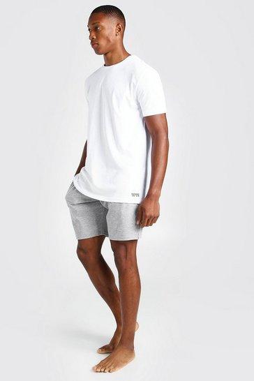 Grey MAN Dash Jacquard Waistband Lounge Short Set