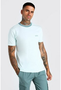 Mint green Original MAN Sports Rib T-Shirt