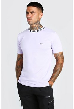 Lilac purple Original MAN Sports Rib T-Shirt