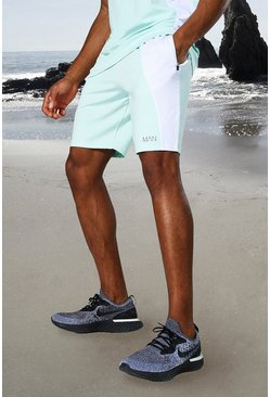 Short color block - MAN Active, Mint vert