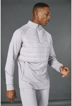 Grey Man Active Quilted 1/4 Zip Top