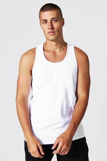 White Basic Racer Vest