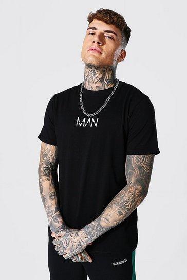 Black Original Man Roll Sleeve T-shirt