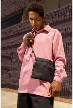 Pink MAN Skate Corduroy Over The Head Overshirt