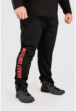 Black MAN Active X Beast Tapered Printed Joggers