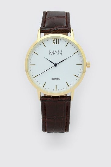 Brown Man Dash Classic Watch