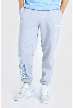 Grey marl MAN Official Printed Loose Fit Jogger