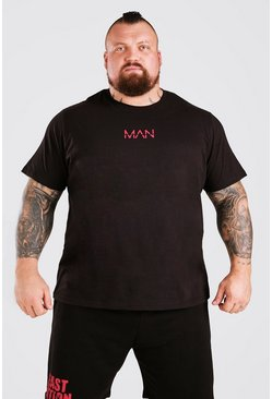 Black Man Active X Beast T-Shirt With Print Detail