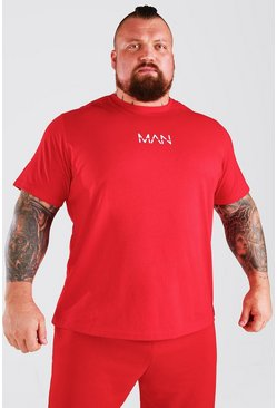 Red MAN Active X Beast T-Shirt With Print Detail