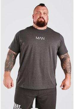 Charcoal grey MAN Active X Beast T-Shirt With Print Detail