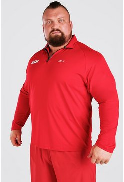 Red MAN Active X Beast Muscle Fit Funnel Neck