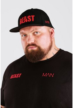 Black MAN Active X Beast Print Trucker Cap