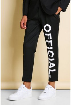 Black MAN Official Tapered Smart Trousers