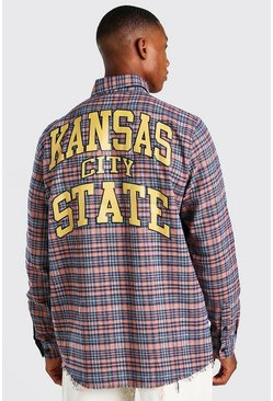 Multi Oversized Championship Check Shirt