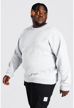 Grey marl grey Plus Size Basic Sweater