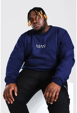 Navy Plus Size MAN Dash Sweater
