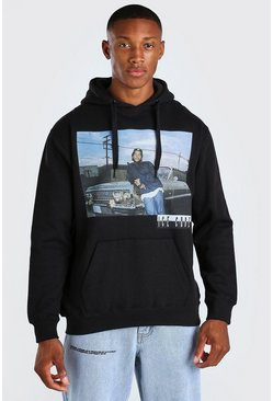 Black svart Ice Cube Car Print License Hoodie