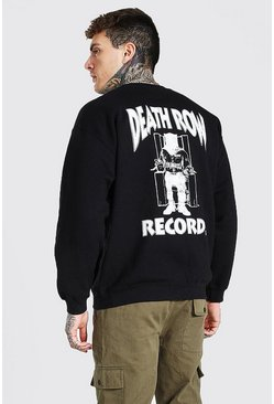 Black Death Row Records Back Print Sweater