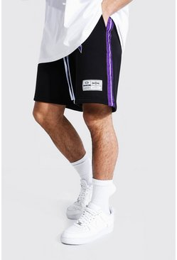 Black Official Basketball Jersey Shorts With Tape