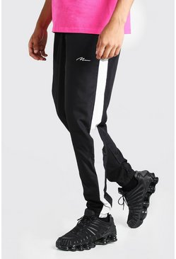 Black MAN Signature Shell Jogger With Reflective Panels
