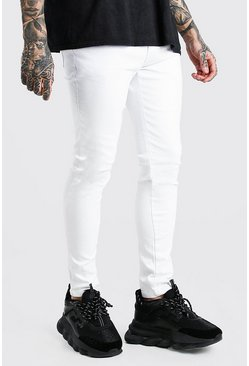 White Distressed Skinny Fit Jean