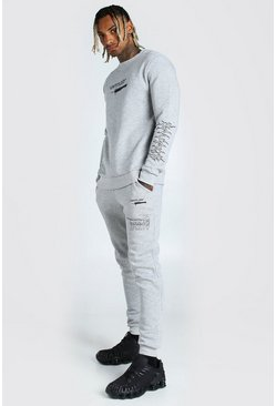 Grey Man Official Printed Sweat And Jogger Set