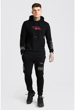 Black Man Official Printed Hoodie And Jogger Set