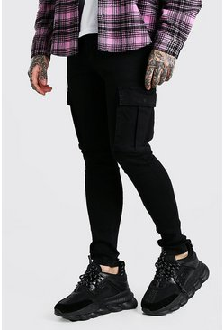 True black Super Skinny Cargo Jeans