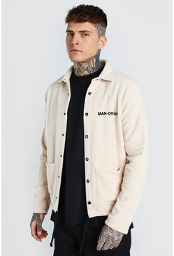 Off white white MAN Official Polar Fleece Coach Jacket