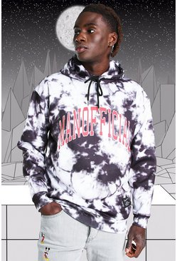 Black Disney Mickey MAN Official Tie Dye Hoodie