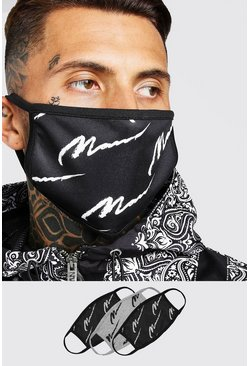 Black 3 Pack Multi MAN Script Masks