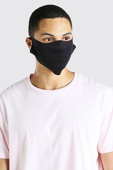 Black 2 Pack Plain Masks