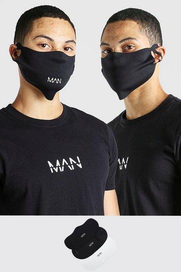Multi 3 Pack MAN Branded Fashion Masks
