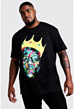 "Camiseta de ""Biggie Crown"" Big and Tall, Negro"