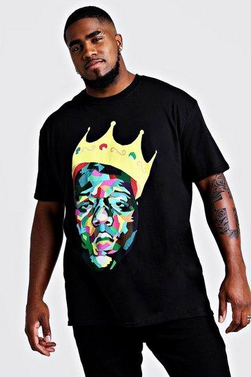 Black Plus Size Biggie Crown License T-Shirt