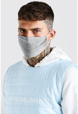 Grey 2 Pack Plain Fashion Masks
