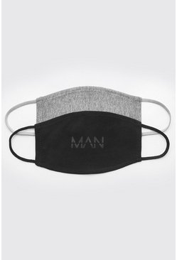 Multi 2 Pack MAN Dash Fashion Masks