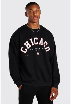 Zwart black Oversized Chicago Sweater