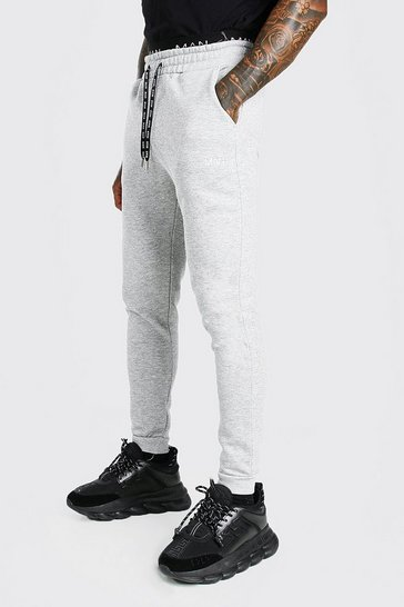 Grey marl grey Skinny Fit Original MAN Double Waistband Jogger