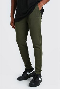 Khaki Skinny Fit Original MAN Double Waistband Joggers