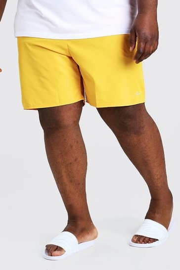 Yellow Plus Size MAN Signature Swim Short