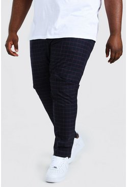 Purple Plus Size Plaid Skinny Fit Pants