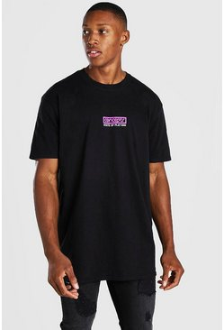 State Of Play Print T-Shirt, Black negro