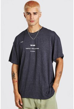 Subtle Reflections Printed T-Shirt, Grey gris