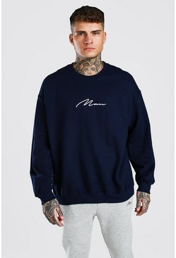 Blue MAN Signature Oversized Sweat
