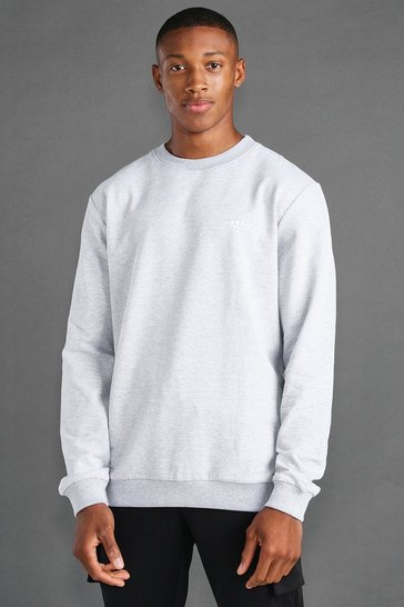 Grey marl grey MAN Active Regular Fit Sweat