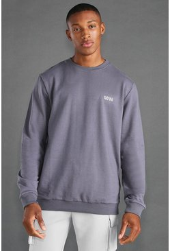 Charcoal grey MAN Active Regular Fit Sweat
