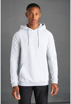 Grey marl grey MAN Active Regular Fit Hoodie